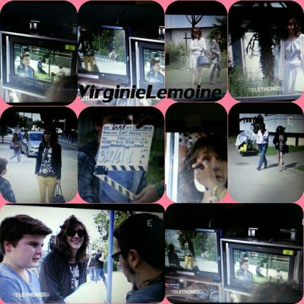 """Virginie  interview le """"Le Bal"""" + Virginie lors de la soirée du secours  Populaire+Stills famille d'accueil  saison 14"""