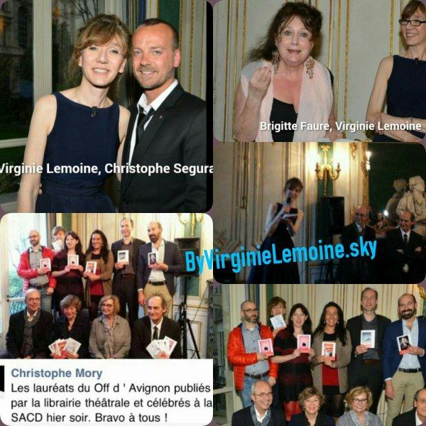 Récéptions des lauréats du Off2015 D'Avignon
