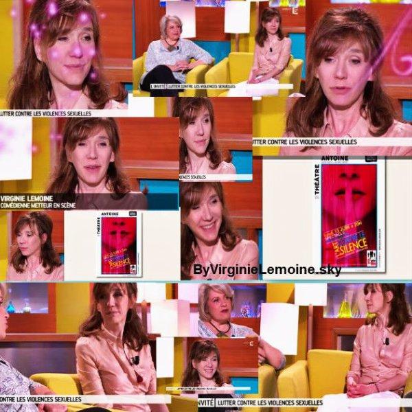Juin 2016:Passages télés Virginie Lemoine