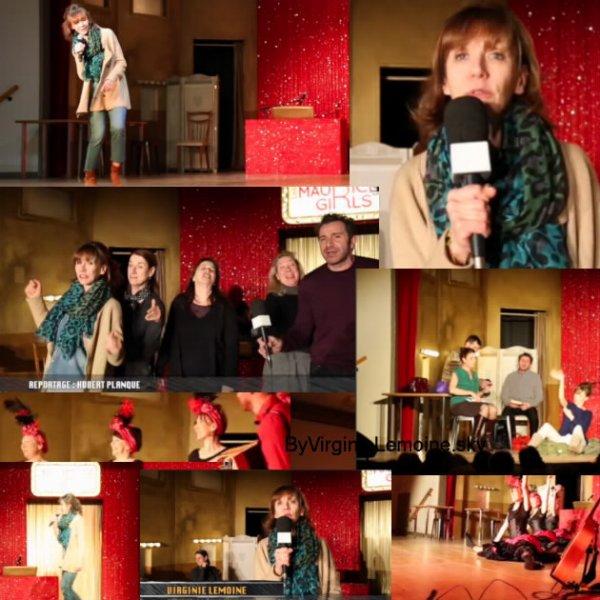 Les Maurice Girls à Rouvroy le 2  Mars 2016 interview télévisé