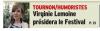 Virginie Lemoine en tournage d'un court métrage et présidente d'un festival à Tournon/Tain