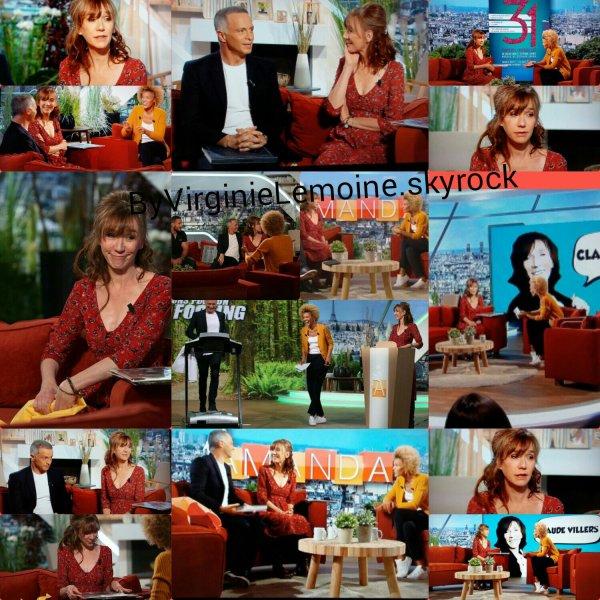 Virginie dans l'émission d'Amanda sur france 2 le 13 octobre