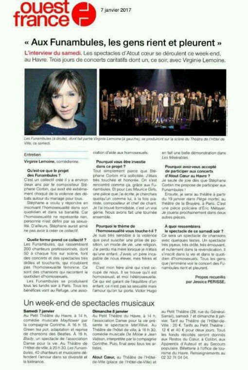 Virginie Lemoine au Havre samedi sur la scène du THV