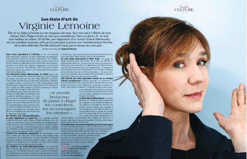 Magazine Point de vue du 25 Janvier 2017:Virginie Lemoine