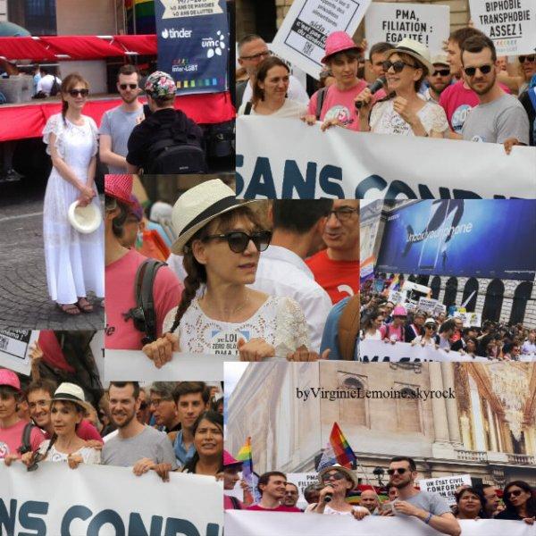 """Virginie marraine de la """"marche des fiertés """" à Paris"""