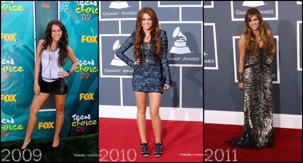 .Voici l'évolution de Miley Cyrus de 2006 à Aujourd'hui.  En quelle année la préferez vous ? .