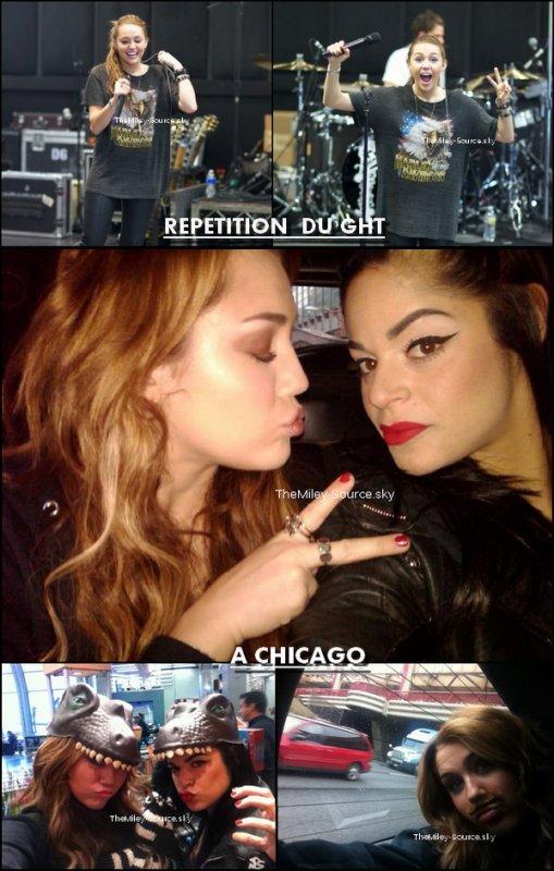 .07/04/2011 Miley a été aperçue à l'aéroport LAX avec sa maquilleuse. Elle s'envolait pour Chicago pour une participation dans l'émission d'Oprah Winfrey, qui sera diffusé le 13 avril. Joan Jett, Stevie, Sheryl Crow, Sister Sledge, et Avril Lavigne seront également présents.+. La vidéo promo pour le concert de M.Cyrus au Venezuela ici.