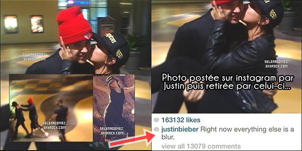 _JELENA LE RETOUR : INFO OU INTOX ? _En effet l'ex-couple aurait été vu le 14/08/14 et pour preuve : plusieurs photos circulent sur les réseaux sociaux ! Justin Bieber aurait même posté une photo (voir en dessous) de lui avec Selena sur son compte Instagram avec comme légende « Désormais tout est flou » (la photo aurait été retirée par la suite). Qu'en pensez-vous ? Croyez-vous à un éventuel retour du couple Jelena ? Est-ce bien Selena Gomez sur les photos selon vous ? Pour l'instant rien n'a été confirmé...