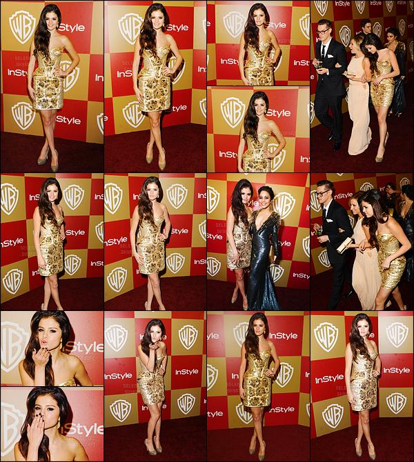 13/01/13 - Sel' s'est rendue à l'after-party de la 70ème cérémonie des Golden Globe Awards à Beverly Hills. Elle a posé avec Vanessa Hudgens - sur le tapis rouge ! Je trouve que sa tenue est superbe, c'est un énorme top'. Et toi alors tu aimes bien ?! [/alig fen]