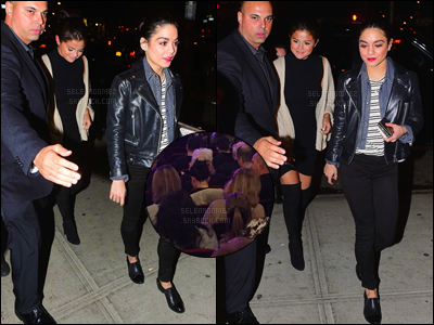 02/05/15 - Selena G. a été photographiée dans les rues de la plus grande ville des États-Unis - à New-York.Le soir, profitant de ce séjour à N-Y, Selly s'est empressée d'assister à la représentation de son amie Vanessa Hudgens « Gigi » à Broadway ! [/alig fen]