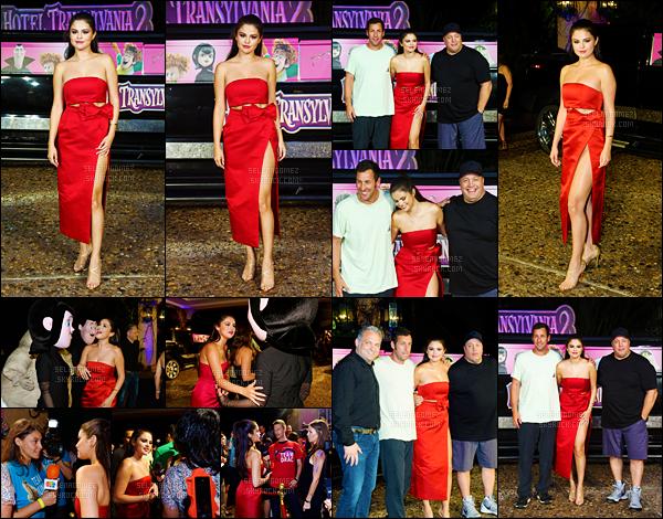 14/06/15 - Sel' était en pleine promo pour le dessin animé « Hotel Transylvania 2 » à Cancún - au Mexique. Une conférence de presse a été organisée pour cette occasion. Elle est tout simplement sublime dans cette tenue rouge, j'aime ses chaussures ! [/alig fen]