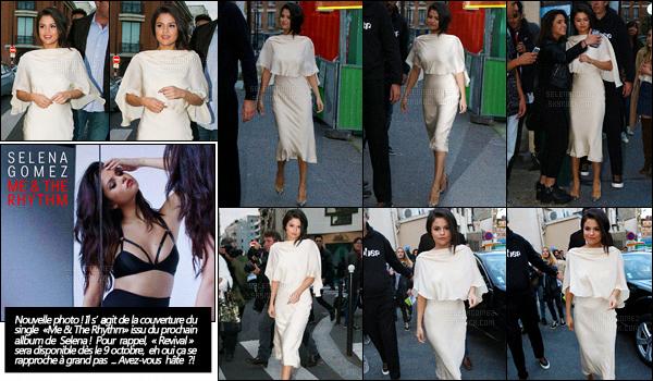 26/09/15 - Selena G. a été aperçue quittant un studio d'enregistrement toujours dans la ville de Paris. Après avoir enchaîné les sorties à Londres, Selena fait de même mais cette fois, à Paris. Un look très sobre, chic et glamour à la fois, beau top ! [/alig fen]