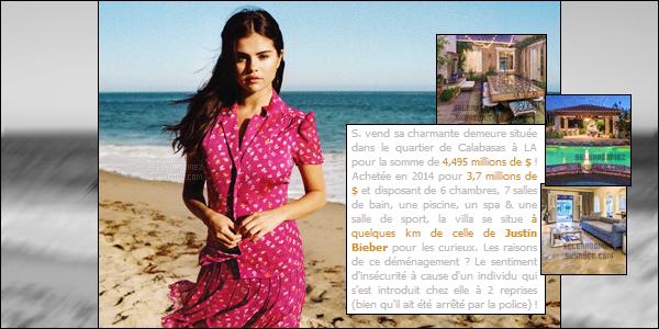 """● """"Belle au naturel pour la couverture de « VOGUE »"""" Tout comme Gigi Hadid, Selena figurera dans le numéro du mois de décembre !       _Selena peut être fière d'elle puisque ces derniers temps, la starlette enchaîne les couvertures de magazines prestigieux tels que Elle_ _US, Interview ou encore Grazia France. Pour son nouveau shooting, elle a opté pour quelque chose en toute simplicité et sans artifice_ _fidèle à elle-même ! Ainsi, sur le premier cliché dévoilé récemment, elle y apparaît sur une plage, les cheveux au vent et vêtue d'un_ _ensemble signé Diane von Furstenberg. Simple et glamour, Selena fait l'unanimité avec ce look ! De plus, l'actrice et chanteuse a_ _accordé une courte interview à Vogue dans laquelle elle s'est exprimée sur de multiples sujets divers, révélant notamment qu'elle_ _écoutait les One Direction, DeJ Loaf ou encore Rae Sremmurd en boucle ... Pour découvrir l'intégralité il faudra patienter un peu !"""