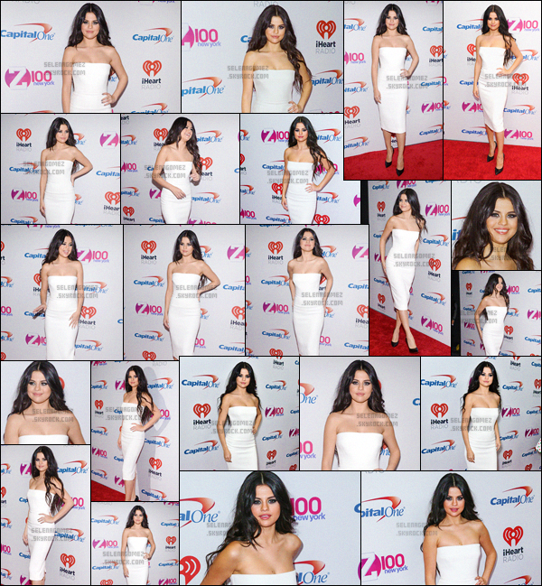 11/12/15 - Miss Gomez a foulé le tapis rouge du « Jingle Ball » dans la ville de New-York ! Un  joli top ?Et surprise, Sel a été vue en compagnie du DJ Zedd. D'ailleurs, lors de cette soirée, elle a notamment chanté le titre I Want You To Know ! [/alig fen]