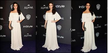 """'""""""""10.01.16'"""" ─ Miss Selena était à l'after-party des « Golden Globes » organisée par InStyle à Beverly Hills, (CA) ! Après presque un mois sans nouvelles d'elle, la chanteuse a enfin fait son retour lors de cette soirée annuelle. Je suis vraiment fan du look, et vous ?[/alig fen]"""
