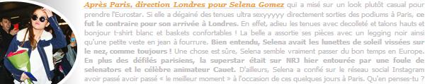 10.03.16 ─ Au revoir Paris ! Selena a été vue arrivant à la gare « Eurostar » qui se situe dans la ville de Londres. [/s#00000ize]Le repos ? Et bien ce ne sera probablement pas pour tout de suite pour notre Selly ... En effet, après un séjour à Paris, elle enchaîne avec Londres ![/alig fen]