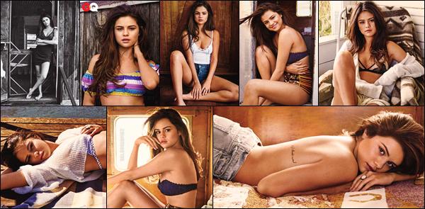 """● ● _Shoot pour le magazine GQ_ Selena fera la couverture de ce magazine en mai !  [/s#00000ize]_Le photoshoot méga sexy de Selena Gomez en bikini pour GQ a été dévoilé, pour le plus grand bonheur des Selenators ! L'interprète_ _de Good For You n'a pas lésiné sur les moyens: bikini, robe légère, petit short et top échancré, elle a enchaîné les photos habillées de multiples_ _façons dans un décor plutôt champêtre et a même posé topless pour certaines photos... Mais ce n'est pas tout, puisque le magazine en question a_ _également posté un petit avant-goût de l'interview vérité qu'elle leur a accordée ... Et pour commencer en beauté, elle a parlé de son enfance_ _quelque peu compliquée avec l'industrie Disney,  un peu différente d'une enfance classique. En effet,  la chanteuse a expliqué : « J'ai choisi tout_ _ça alors je ne vais pas m'asseoir ici et dire """"ohhh pauvre de moi, je n'ai pas eu une enfance normale"""" je m'en fou_ _royalement ! » Avec une telle réponse, Selena montre une fois de plus qu'elle n'est pas du genre à s'apitoyer sur son sort mais qu'elle préfère_ _bien au contraire voir le côté positif des choses ! Pour la suite de l'interview il faudra cependant patienter gentiment jusqu'au mois de mai... En_ _attendant on peut toujours admirer ces magnifiques photos ainsi qu'une petite vidéo sous la forme d'un trailer, une vidéo d'un peu moins de deux_ _minutes qui présente l'envers du décor de ce fameux photoshoot qui précisons-le, a été réalisé par le célèbre photographe Victor Demarchelier !   [/alig fen]"""