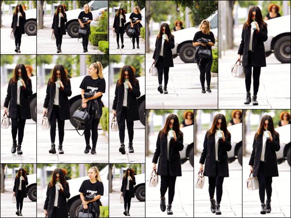 """"""" _'• 21.02.17  '"""" ─ Selena Gomez a été photographiée par des pap's dans les rues de la ville de Los Angeles, en Californie.Café Starbucks en main Selena ne semblait  pas ravie de se faire photographier une énième fois alors qu'elle se promenait tranquillement !  """""""