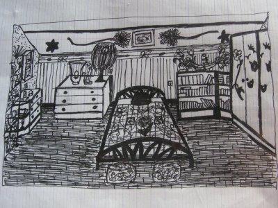 petit dessin d 39 architecture d 39 int rieur mes dessins et. Black Bedroom Furniture Sets. Home Design Ideas