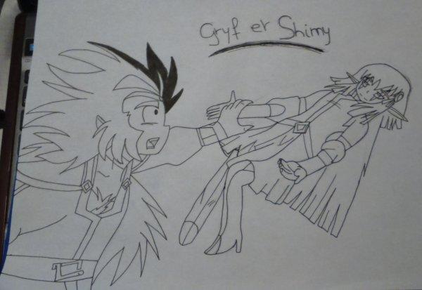Dessin n°3 : Gryf et Shimy