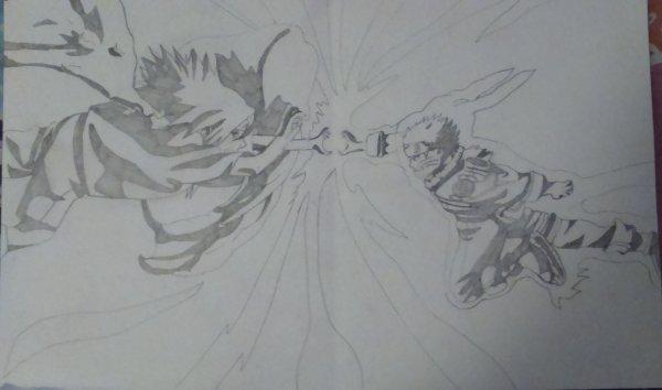 Dessin N 11 Sasuke Vs Naruto Blog De Asilia Darkhell Toirrac