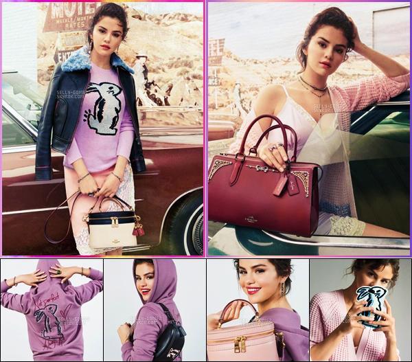 _PHOTOSHOOT_•••__________ Selena posant pour la campagne Automne/Hiver de « Coach ». _
