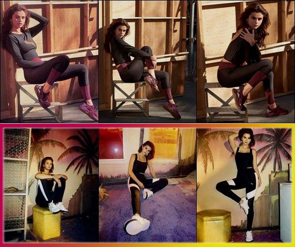 .Shooting  : Voici des nouveaux shoots The Defy Luxe et aussi de The Cali dont Selena Gomez est la l'égérie de la marque de sport Puma ! Beau shoot Selena. Ce shoot est vraiment superbe, en tout cas les baskets sont vraiment magnifique, top !_  Vous en pensez quoi de la collection ? .