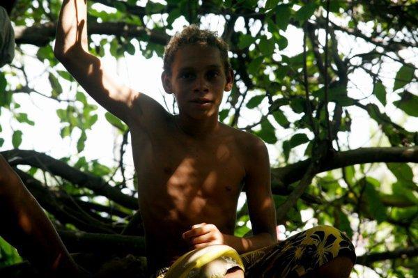 Je devais ressembler à ça enfant, souvent dans mon arbre à rêvasser...