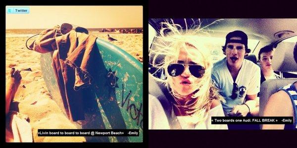 Deux nouvelles photos qu'Emily à poster sur twitter via instagram.