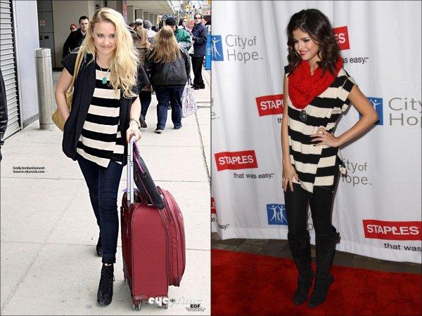 D'après toi qui porte mieu ce pull ? Emily ou Selena ?