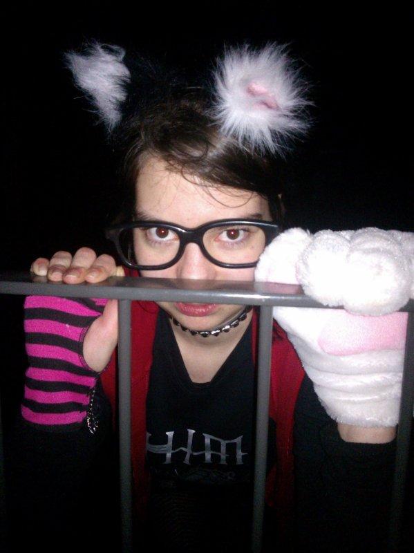 moi déguisée en miaouw :)