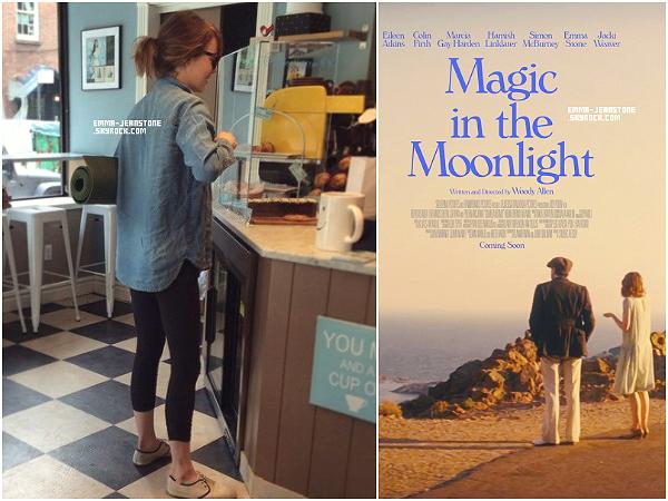27.05.2014:  Emma s'est faite photographier par un fan en train de s'acheter un cookie au café Clunny à New York.  Plus: Découvrez un poster du nouveau film d'Emma, Magic in the Moonlight, qui sortira en salle le 22 octobre.