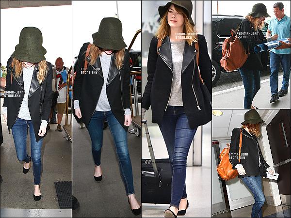 * 10.06.2014: C'est seule qu'Em' s'est rendue à l'aéroport de LAX pour prendre un vol en direction de NY.