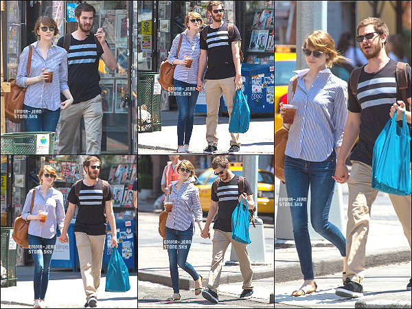 23.06.2014: Stonefield une nouvelle fois aperçu se promenant dans Manhattan, main dans la main.
