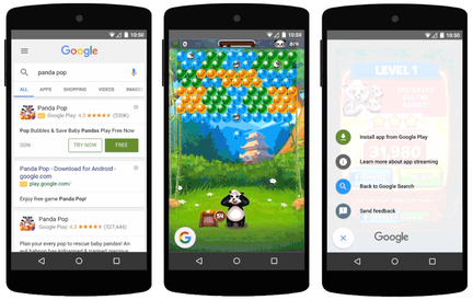 """Search trial runs ads"" will allow users to test games in Google search!"