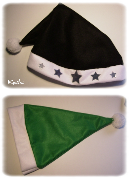1. Bonnets de Noël (ou de Lutin) + Tuto