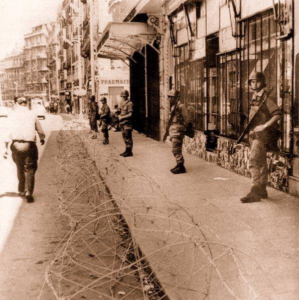 Alger-rue Didouche Mourad (ex-rue Michelet),avant 1962.