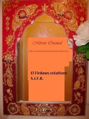 miroir oriental style indien