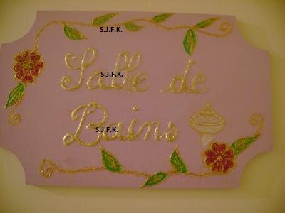 plaque de porte 'salle de bains'