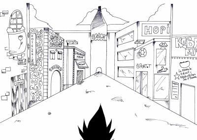 dessin manga en perspective