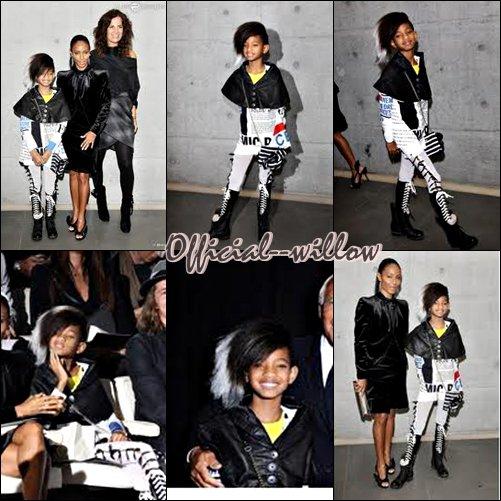 FASHION WEEK MILAN SS 2011 : LE LOOK DE WILLOW SMITH POUR LES DÉFILÉS
