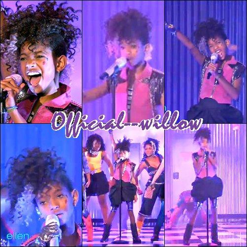Performance  de Willow Smith sur scène Chantant Whip my hair ! Clique sur l'image si tu veut voir la vidéo de sa performance .