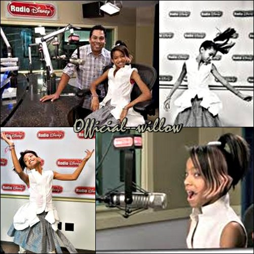 17/11/10 : Willow à la Radio Disney : Willow Smith est allé remuer les cheveux de la Radio Disney, la preuve en photo...
