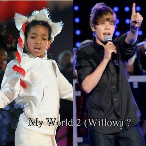 Justin Bierber à inviter Willow Smith dans son My world 2 Elle fera la 1ere Partie