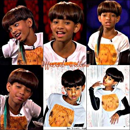Willow a donné un interview à PopEater. Et a aussi posée pour eux.J'adore sa coupe et son Tee-shirt Madonna :)