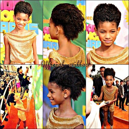 02/04/11 Willow au Kids Choice Awards 2011 à LA Orange Carpet J'adore sa coiffure et vous ?  J'adore sa coupe & sa tenue mais malheureusement c'est un FLOP cette tenue n'est pas varié.