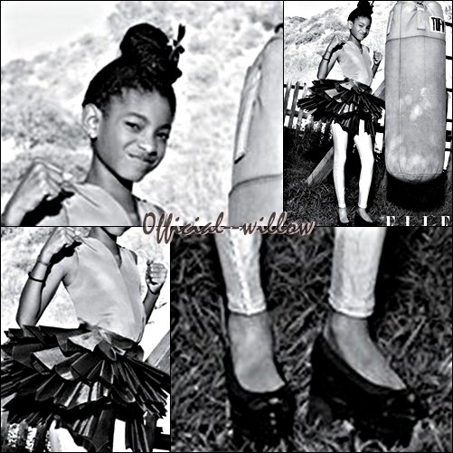 Willow Smith : En photo dans le magazine Elle ! Très Magnifique Elle & dans la cour des grands.Elle nous impressionneras toujours cette Willow on la retrouve en Danseuse & Boxeuse.