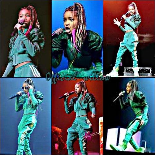 08/03/11 : Performance de Willow a Dublin.Willow smith a réchauffé en haut la foule pour Justin Bieber . l'Irlande, seulement quelques jours après la victoire d'une Récompense d'Image de NAACP pour le Nouvel Artiste Remarquable.