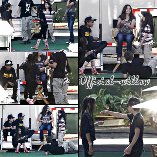 Willow & Jaden  Avec les Enfants De MJ sur le tournage de ( Men In Black III )( Men In Black III ) & Le prochain film de Will Smith