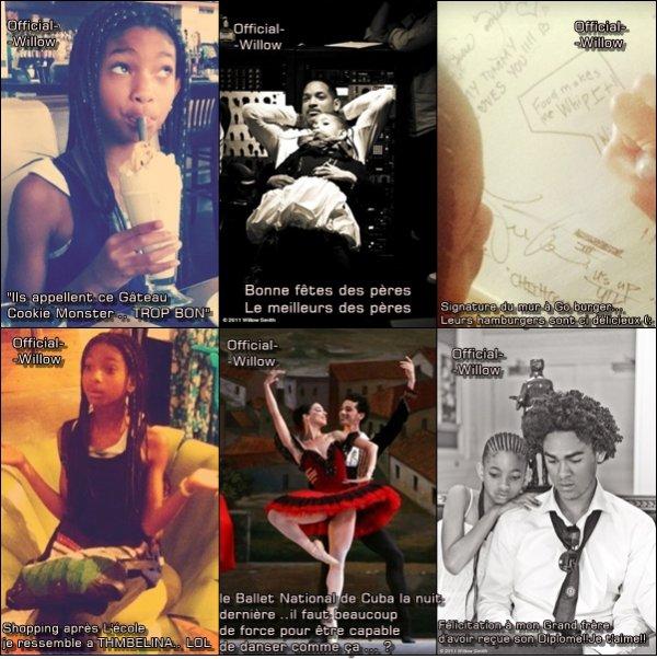 Les dernières photos que Willow Smith à Posté sur son FACEBOOK Bah  elle en à eu des CHOSES .A ce quond vois Willow à Eté charger  Ces temps-ci !